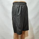Шорти чоловічі подовжені мікрофібра в стилі Nike чорні, фото 2