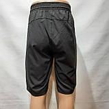 Шорти чоловічі подовжені мікрофібра в стилі Nike чорні, фото 6