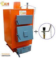 Твердотопливный котел САН Эко мощность 13 кВт + регулятор тяги
