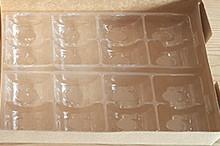 Вставка(вкладка)для коробки для Macaron 6шт. прозрачная (код 04585)