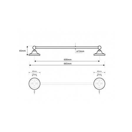 Тримач для рушників 60 см Bemeta Retro (144304042), фото 2
