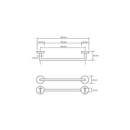 Тримач для рушників Bemeta White (104204024), фото 2