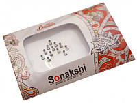 """Комплект наклеек на лицо или на ногти """"Sonakshi Bindi"""" Упаковка 11*7см. №84"""