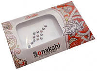 """Комплект наклеек на лицо или на ногти """"Sonakshi Bindi"""" Упаковка 11*7см. №83"""