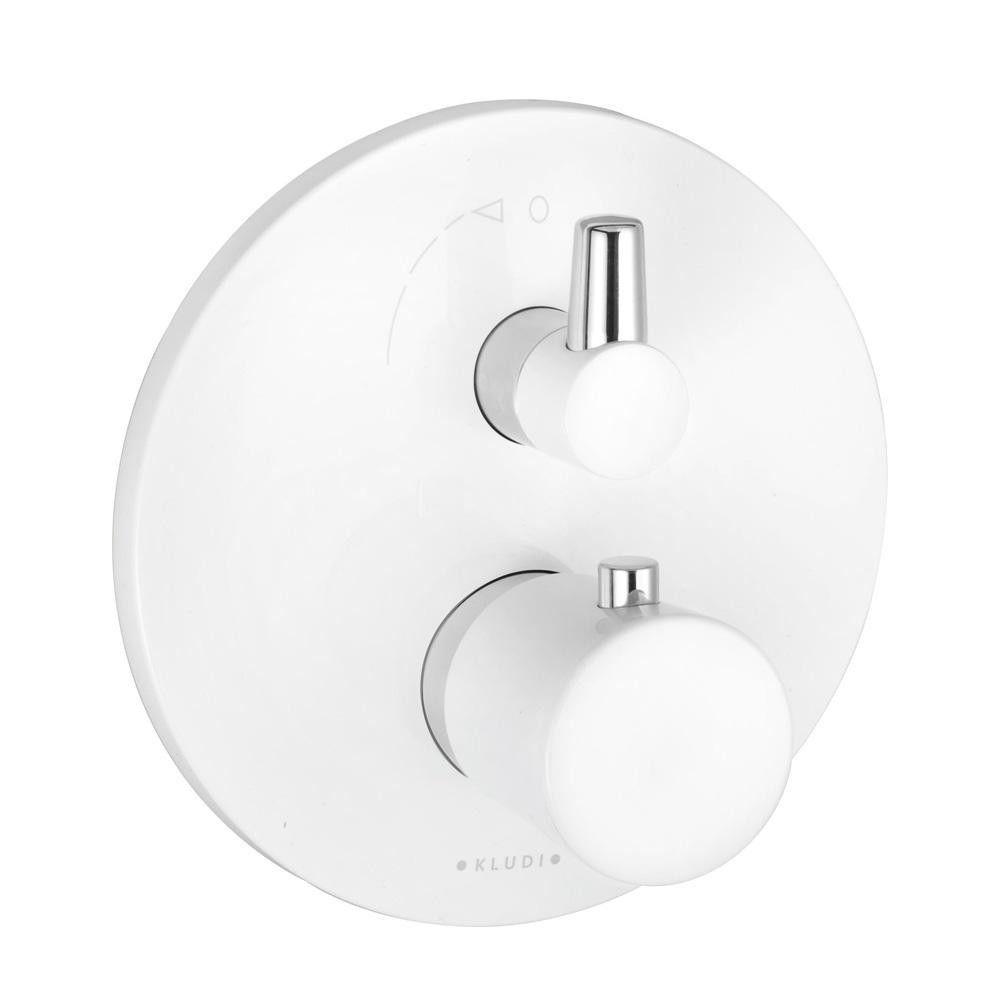 Смеситель для ванны Kludi Balance термостат, белый (528309175)