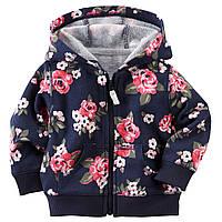 Детская кофта с капюшоном для девочки   9, 12 месяцев