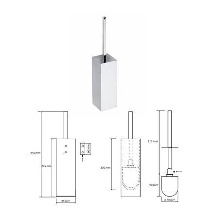 Туалетна щітка з тримачем Bemeta Plaza (118113092), фото 2