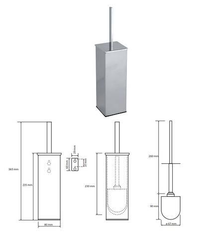 Туалетна щітка з тримачем настінна Bemeta Plaza (118213092), фото 2