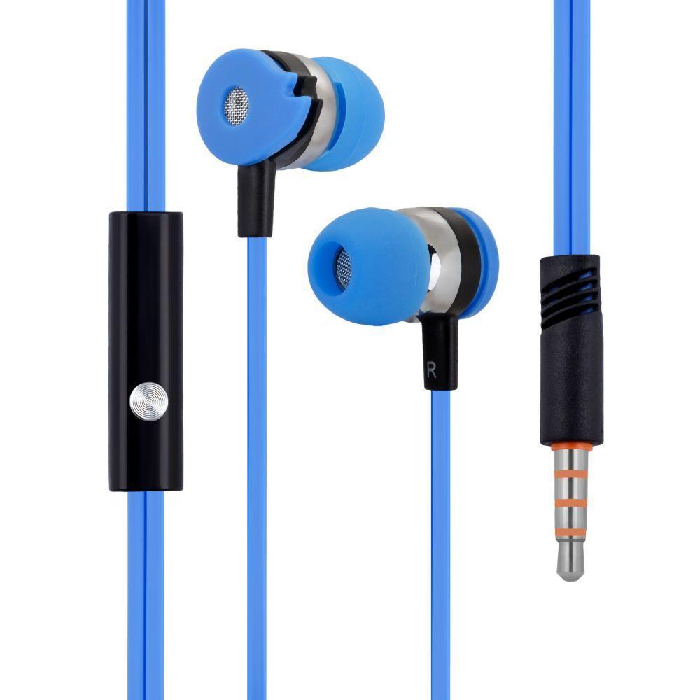 Вакуумні навушники Celebrat D1 гарнітура для телефону Блакитний
