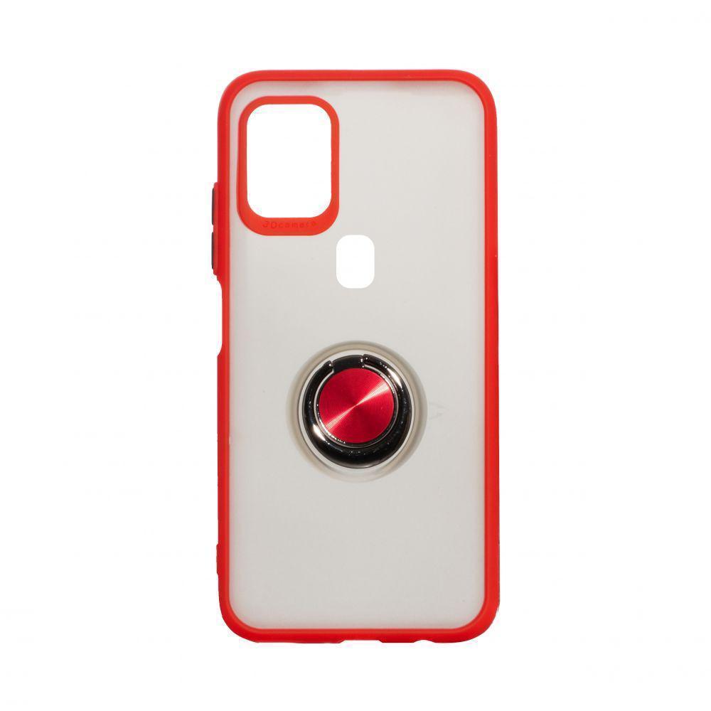Чехол Totu с магнитным кольцом для Samsung Galaxy A21s SM-A217 Красный