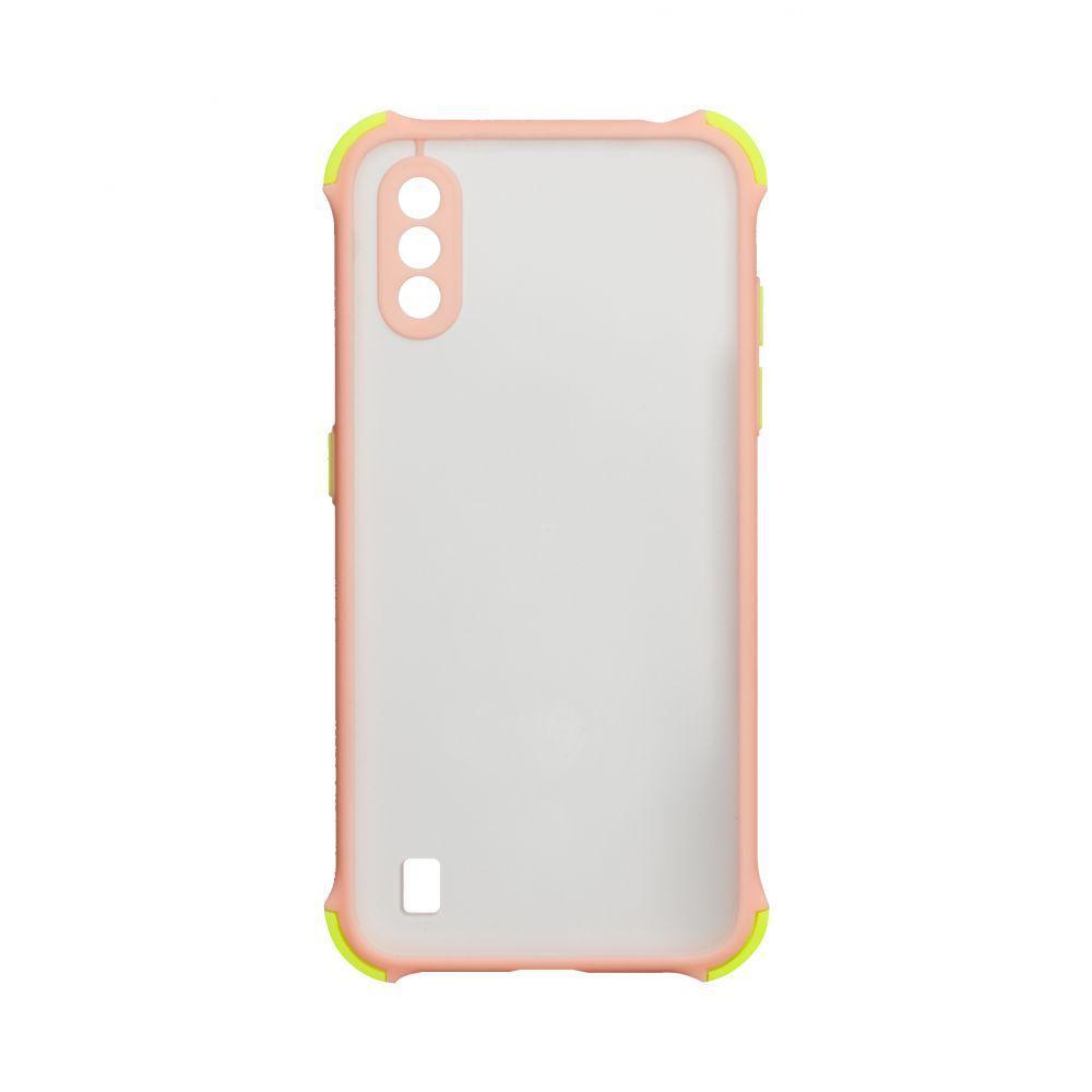 Чохол Totu Armor Frame для Samsung Galaxy A01 SM-A015 Рожевий