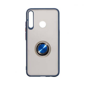 Чехол Totu с магнитным кольцом для Huawei P40 Lite E Синий