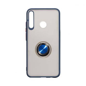 Чохол Totu з магнітним кільцем для Huawei P40 Lite E Синій