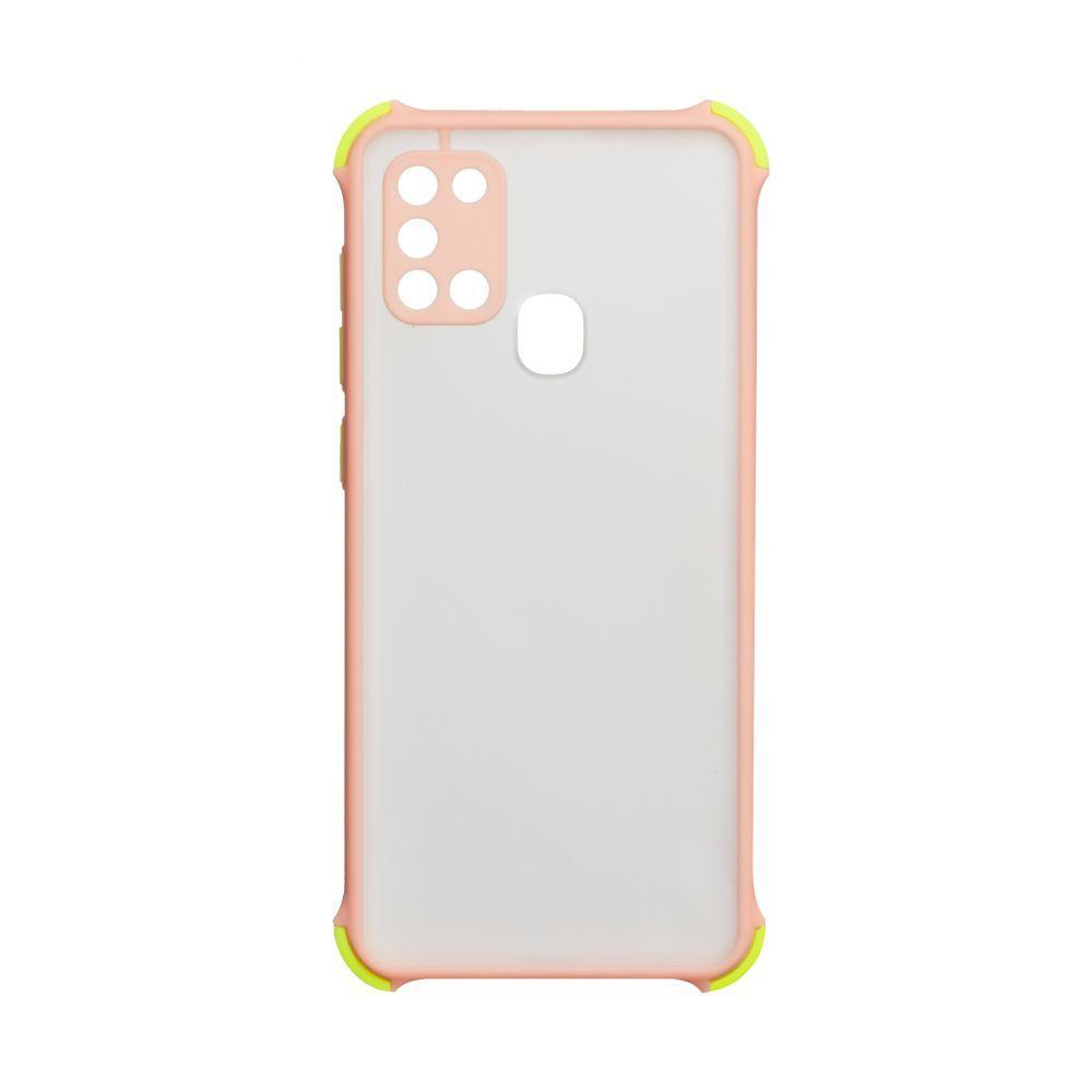 Чехол Totu Armor Frame для Samsung Galaxy A21s SM-A217 Розовый