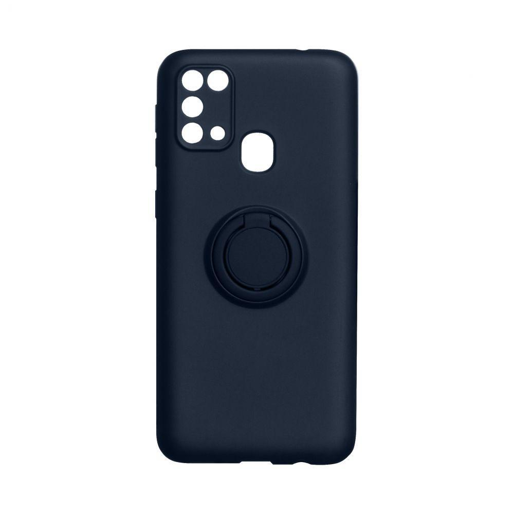 Чехол Totu Ring Color для Samsung Galaxy A21s SM-A217 Тёмно-Синий