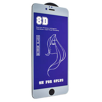 Захисне скло Mirror з ефектом дзеркала для Apple iPhone 6s Plus/ iPhone 6 Plus White-Blue