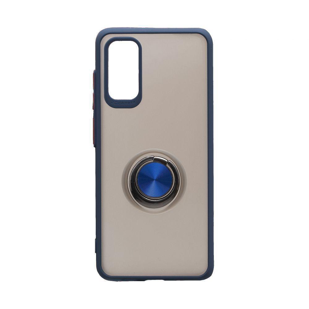 Чехол Totu с магнитным кольцом для Samsung Galaxy S20 SM-G980 Синий