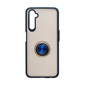 Чехол с магнитным кольцом Totu для Realme 6 Pro Синий