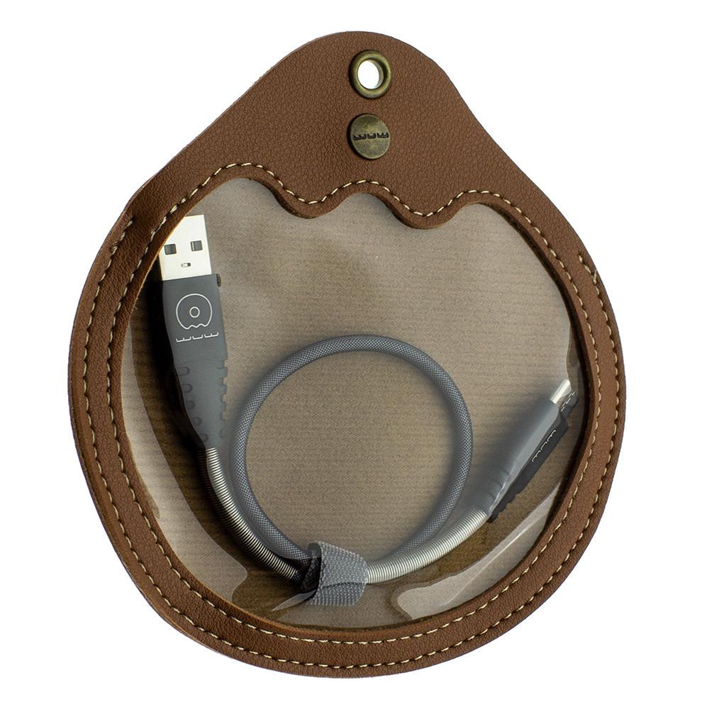 Кабель Wuw X71 USB - USB Type C 2.4A длина 30 см Черный
