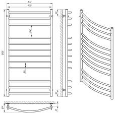 Полотенцесушитель водяной Laris Классик П12 600 х 1200 (71207689), фото 2