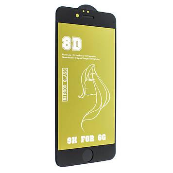 Захисне скло Mirror з ефектом дзеркала для Apple iPhone 6s/ iPhone 6 Black-Gold