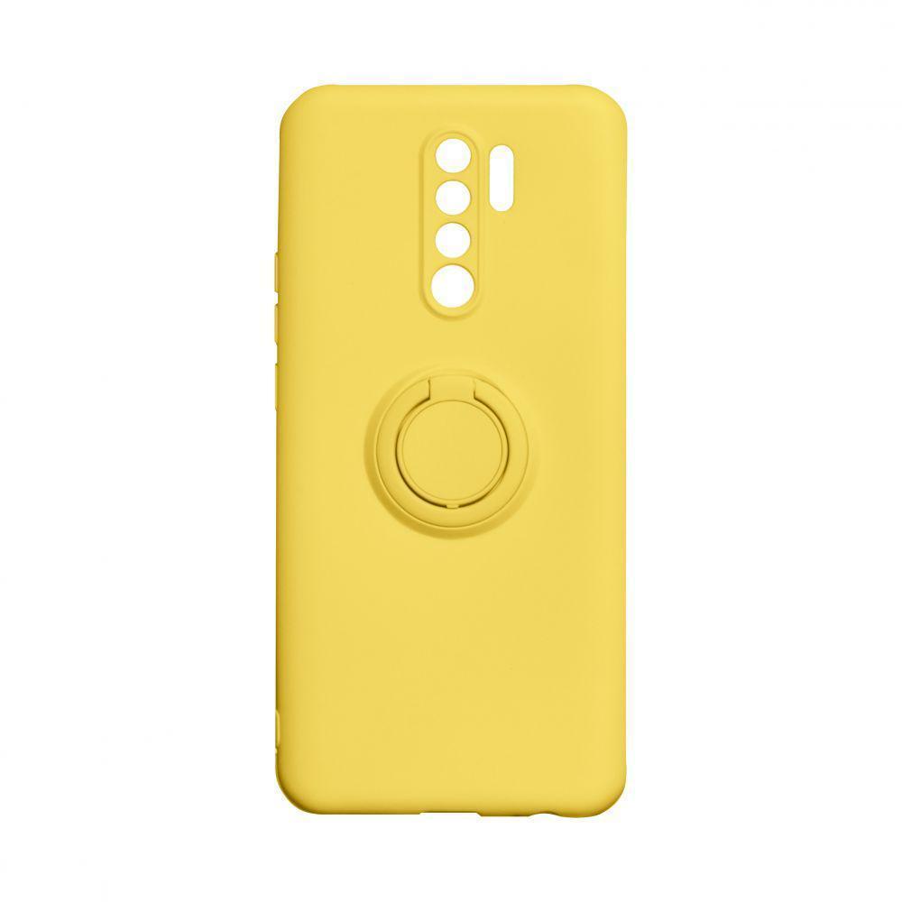 Чехол Totu Ring Color для Xiaomi Redmi 9 Жёлтый
