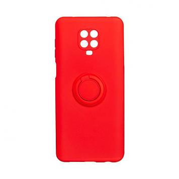 Чохол Totu Ring Color для Xiaomi Redmi Note 9 Pro Червоний