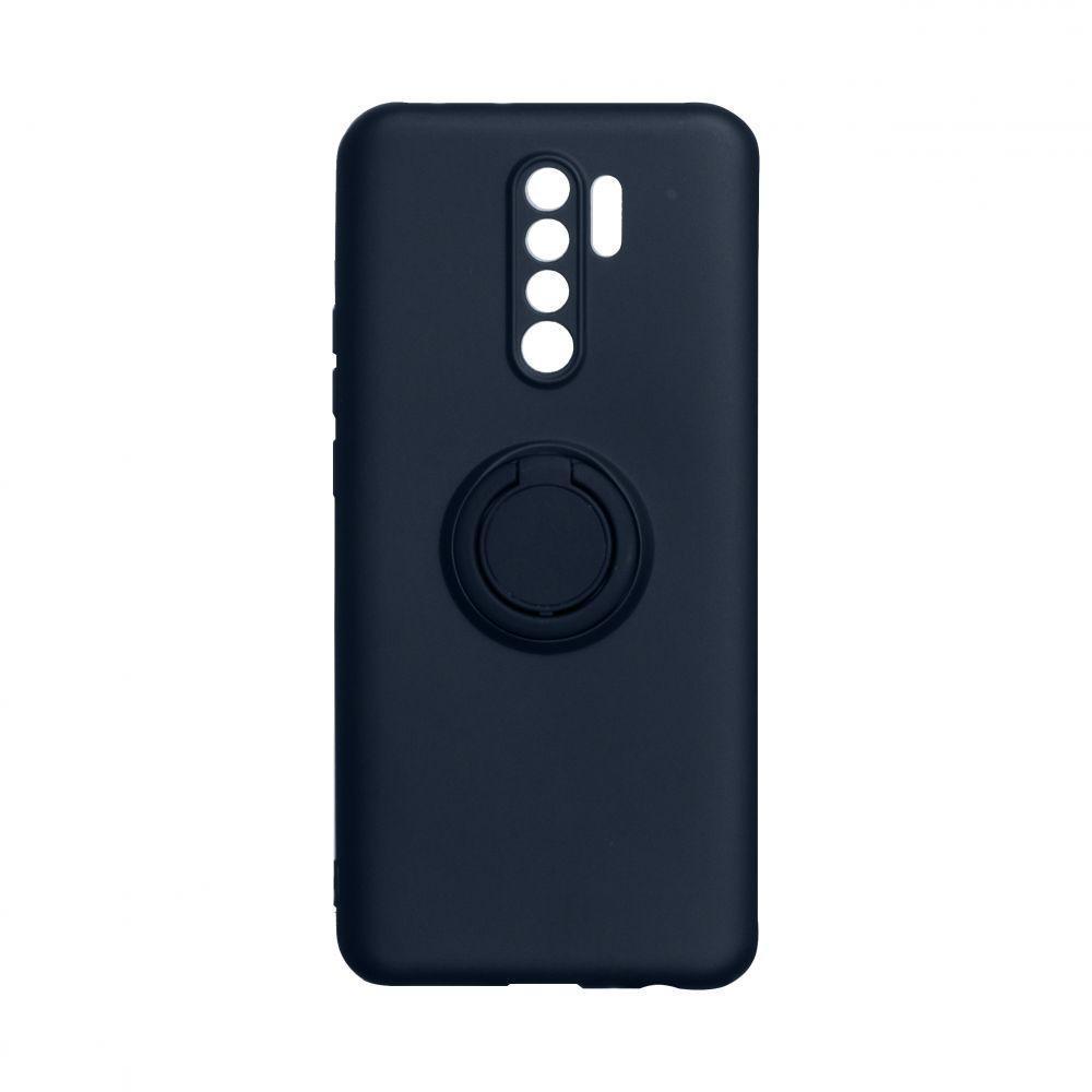 Чехол Totu Ring Color для Xiaomi Redmi 9 Тёмно-Синий