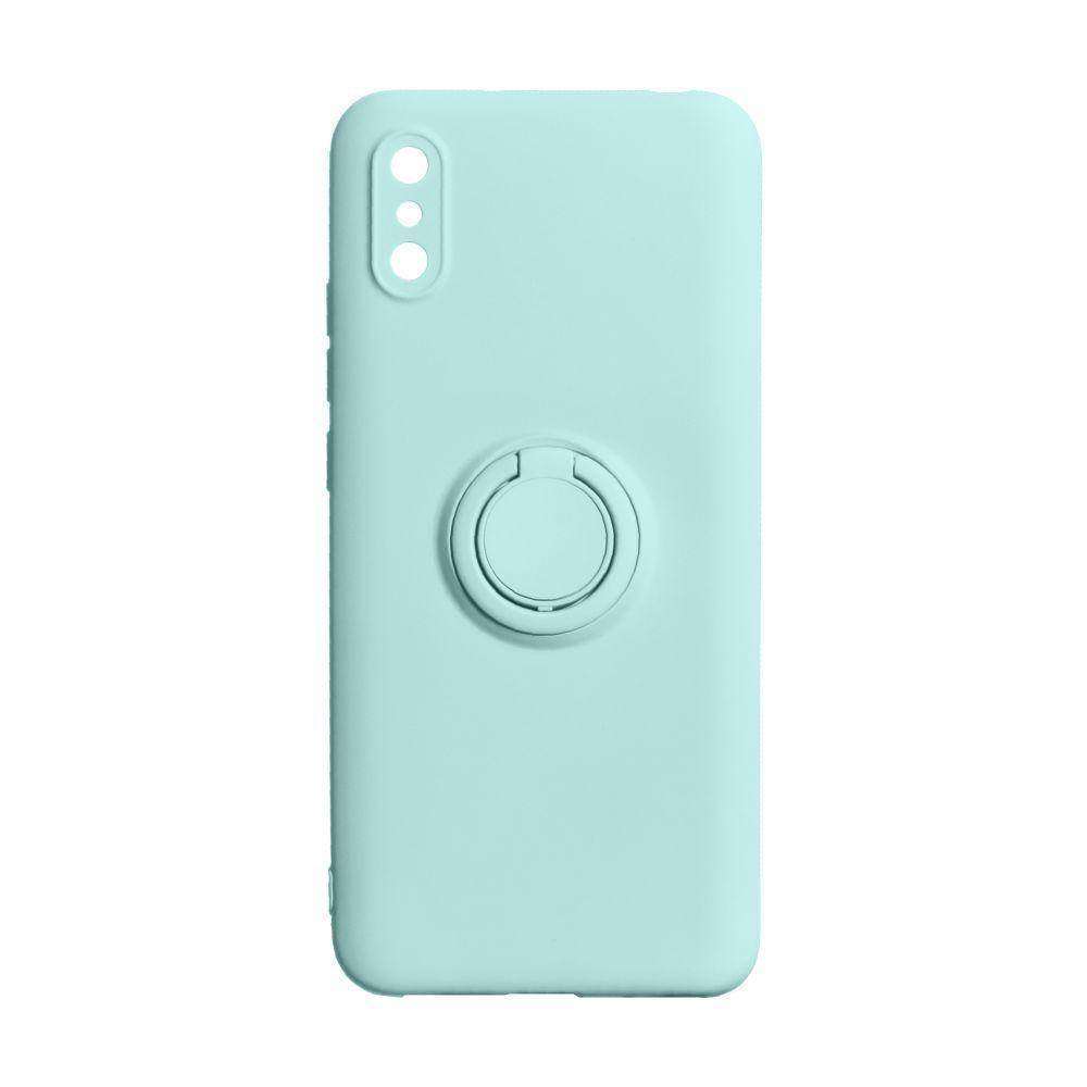 Чехол Totu Ring Color для Xiaomi Redmi 9A Бирюзовый