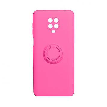 Чехол Totu Ring Color для Xiaomi Redmi Note 9 Pro Розовый