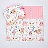 """Летний комплект в коляску BabySoon """"Лесные жители"""" одеяло 65 х 75 см подушка 22 х 26 см цвет розовый"""