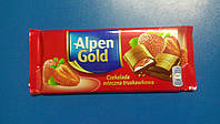 Шоколад Alpen Gold Альпен голд молочный йогурт клубника 90г