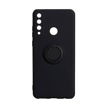 Чехол Totu Ring Color для Huawei Y6P Eur Ver Черный
