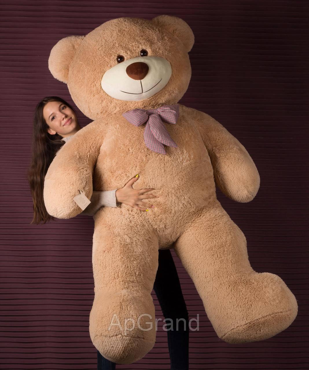 Плюшевий ведмедик Mister Medved Тедді 2 метри латте