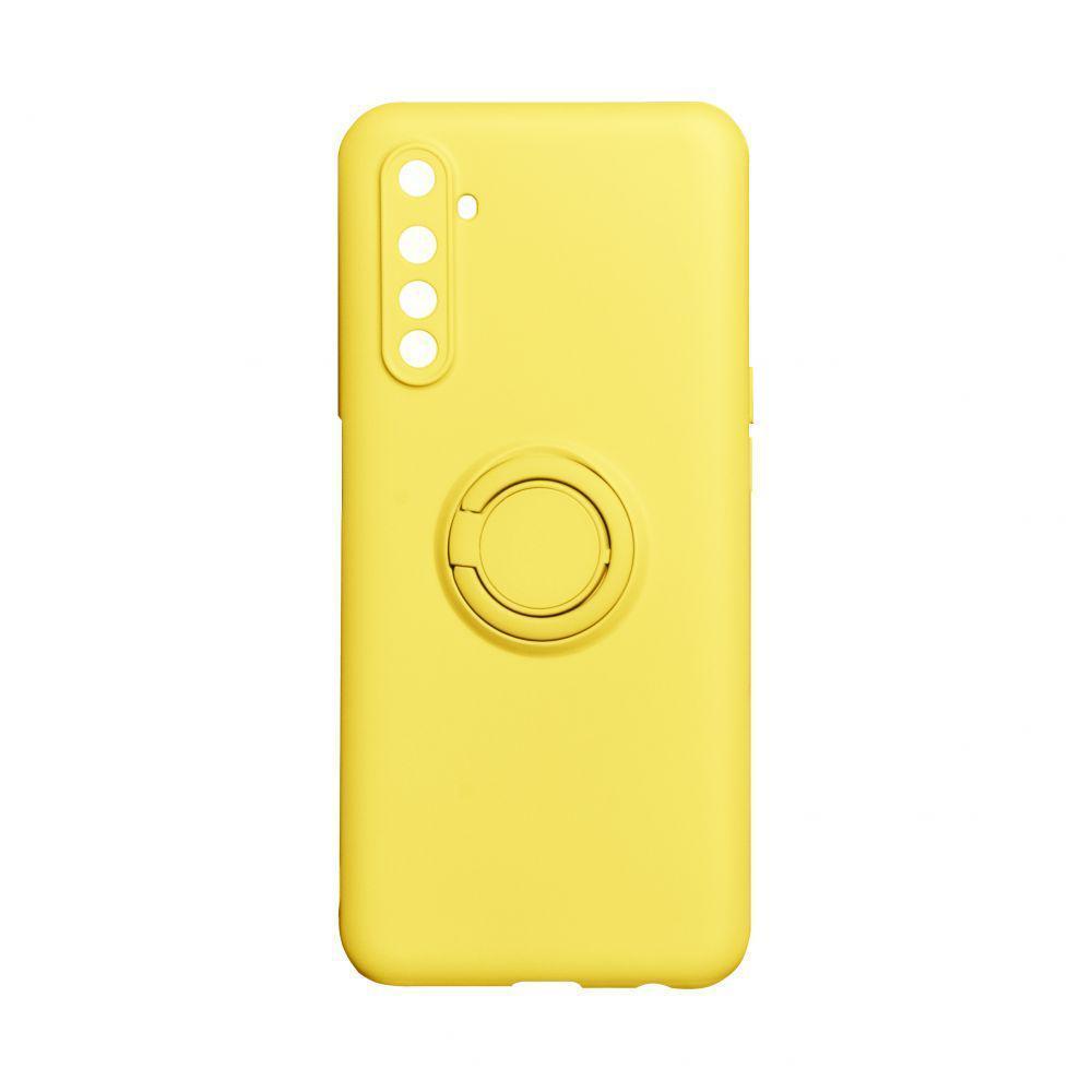 Чехол Totu Ring Color для Realme 6 Жёлтый