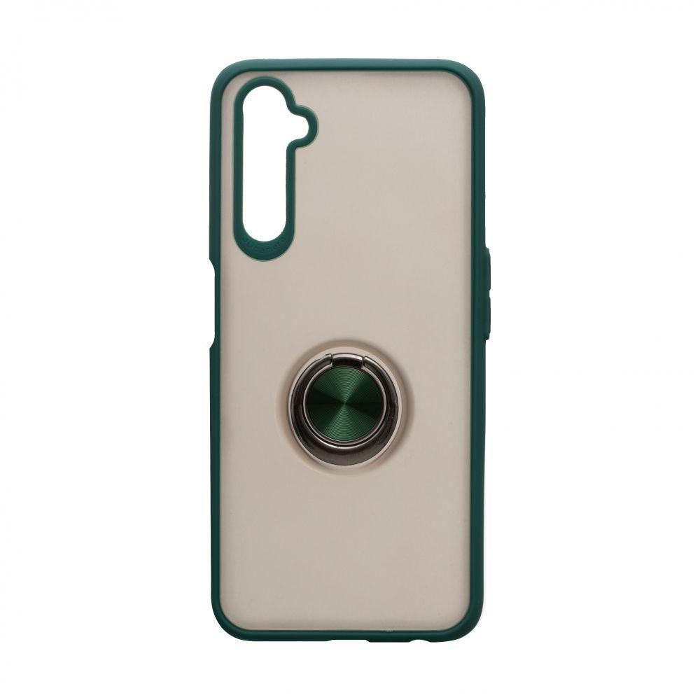 Чехол с магнитным кольцом Totu для Realme 6 Pro Зелёный