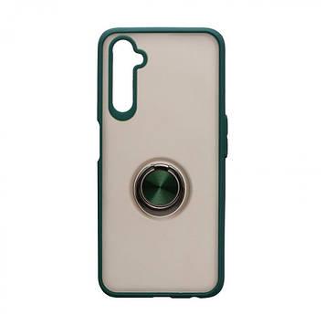 Чохол з магнітним кільцем Totu для Realme 6 Pro Зелений