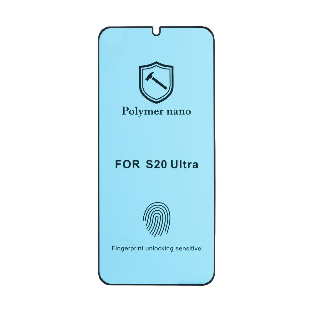 Защитное стекло Mirror Nano для Samsung Galaxy S20 Ultra SM-G988 Чёрный