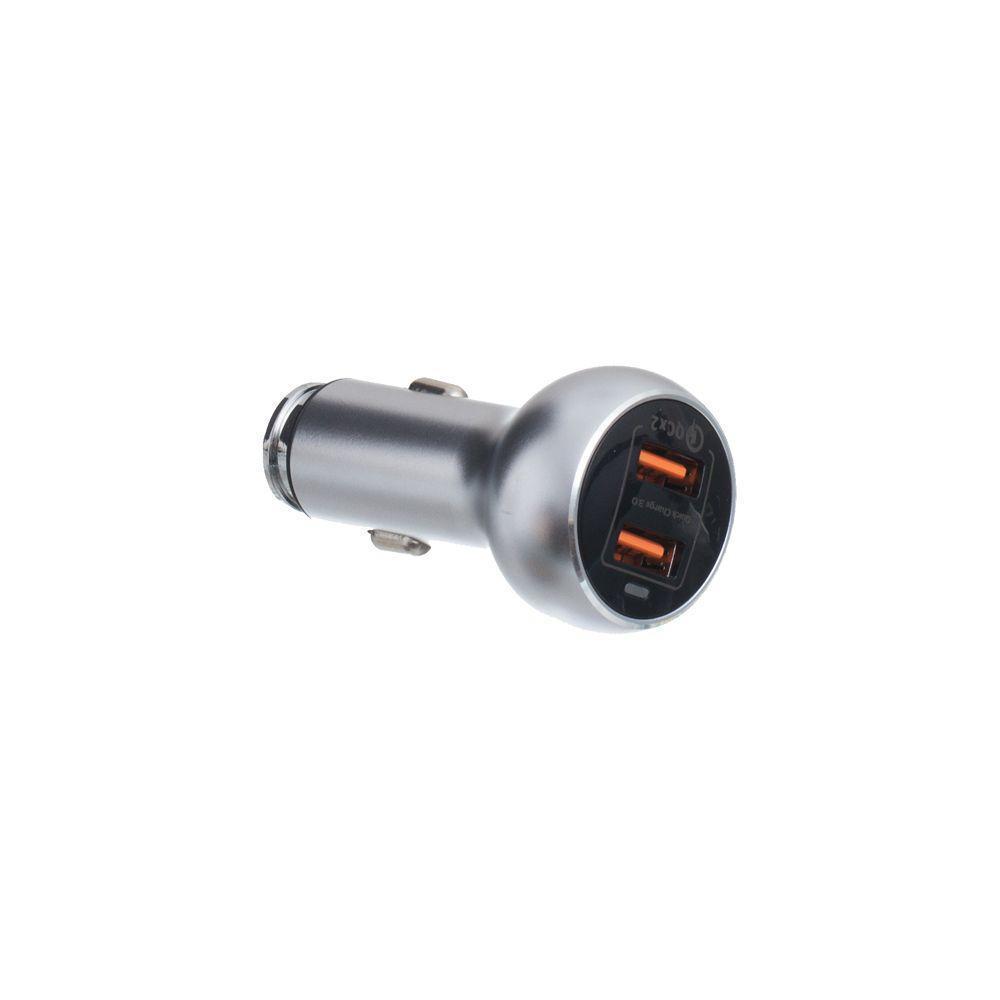 Автомобильное зарядное Moxom KC-13 36W Quick Charge 3.0 с кабелем Micro USB Серый