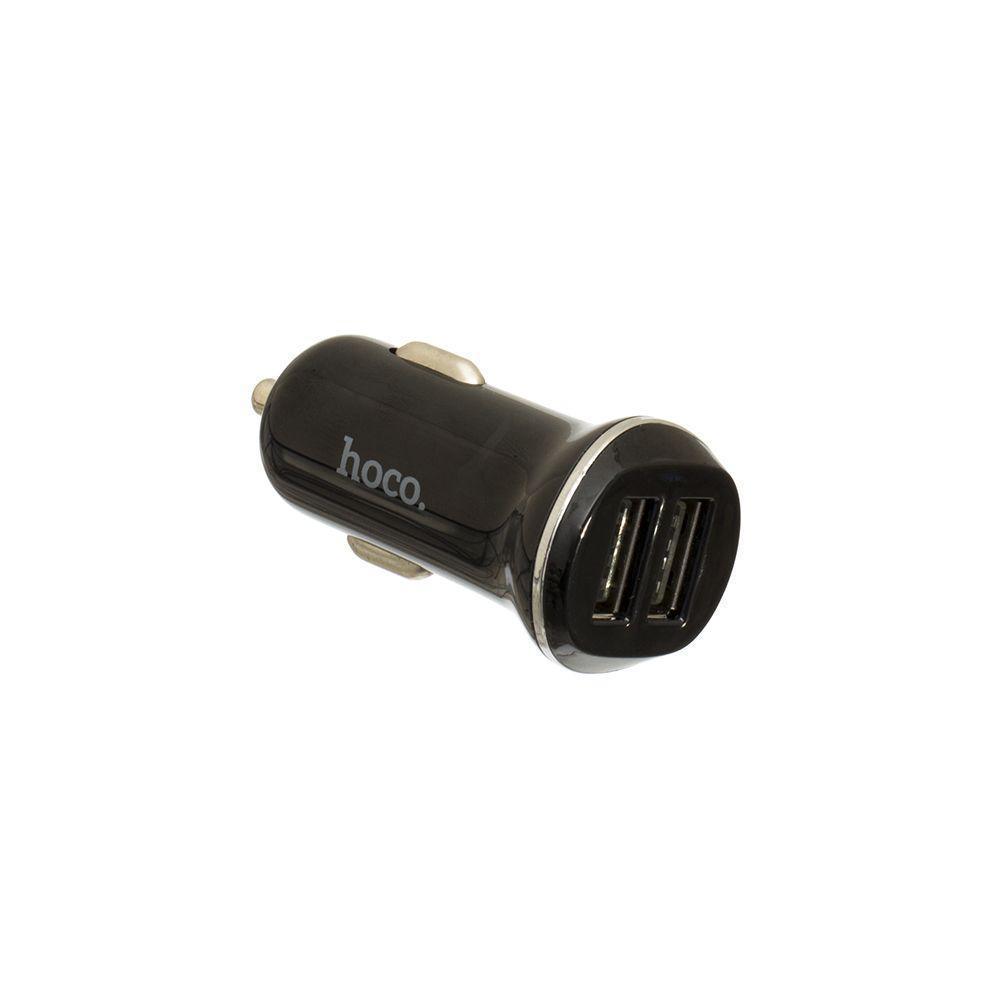 Автомобильное зарядное Hoco Z1 2.1A 2 USB Pover Adapter Чёрный