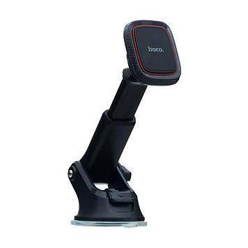 Автомобильный держатель Hoco CA42 магнитная фиксация телефона Чёрно-Красный