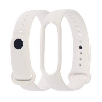 Ремешок силиконовый Anchor для Xiaomi Mi Band 5/ 6 Белый