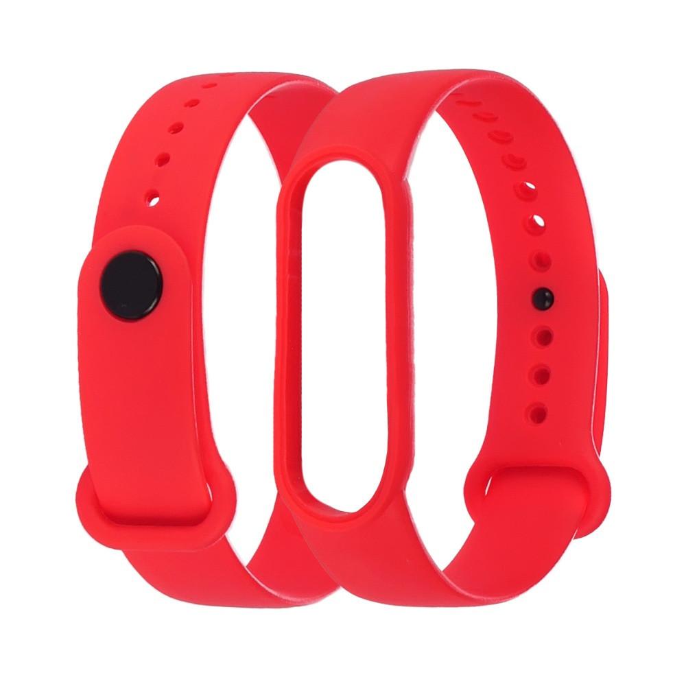 Ремешок силиконовый Anchor для Xiaomi Mi Band 4/ Band 3 Красный