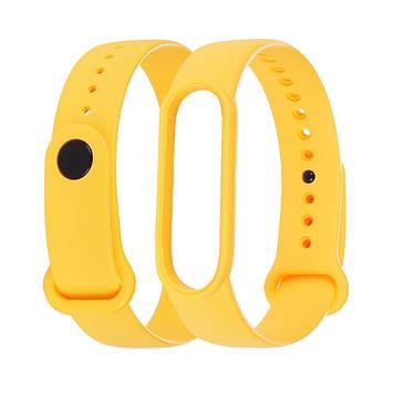 Ремешок силиконовый Anchor для Xiaomi Mi Band 5/ 6 Ярко-жёлтый