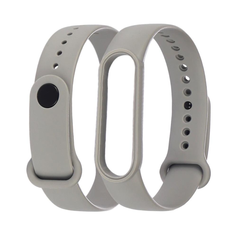 Ремешок силиконовый Anchor для Xiaomi Mi Band 4/ Band 3 Серый