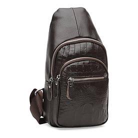 Мужской кожаный рюкзак Borsa Leather K1142-brown