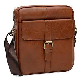 Мужская кожаная сумка Borsa Leather K15210-brown