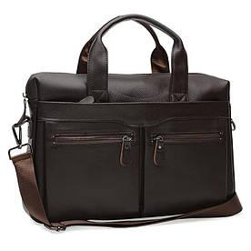Мужская кожаная сумка Borsa Leather K18612-brown