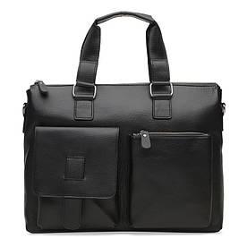 Мужская кожаная сумка Borsa Leather K18825-black