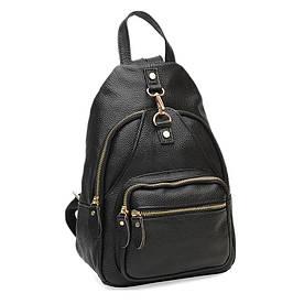 Женский кожаный рюкзак Borsa Leather K1162-black